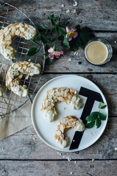 our food stories: almonds horns with coconut sugar & new trays from design letters