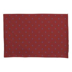 Blue Polka Dots and Dark Red - Fall Plaid Bedroom Pillowcase