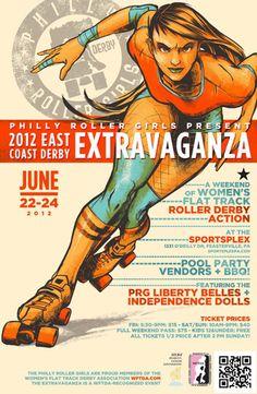 2012 East Coast Derby Extravaganza poster -- <3 <3 <3