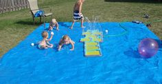 While the weather is still HOT outside and my parents have closed their pool, it was time to get creative with how we'd enjoy being outside ...