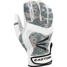 Easton  Stealth Core Leather  Baseball/Softball Batting Gloves. Digital Camo.  #Easton