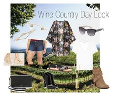 """""""Wine Country Day Look 3"""" by dicey828 on Polyvore featuring Forever 21, H&M, Kate Spade, Dolce Vita, Giuseppe Zanotti, BaubleBar and country"""