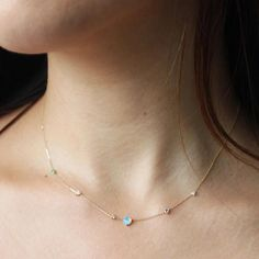 Dainty Gold Chain with tiny round fire opal stones.The Nuri Choker is perfect to layer with your everyday jewelry or with a delicate choker and necklaces for a Boho-Chic look. Available in Gold Vermeil or White Gold plating over .925 Sterling Silver.   Opal Stone size: 3mm   MADE TO ORDER: please allow two weeks production time prior to ship.