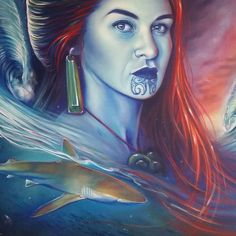 We are so deeply connected to the ocean, I feel it everytime I walk along the beach or hold my breath and swim underwater for as long as I… Polynesian Art, Polynesian Culture, Nz Art, Art For Art Sake, Maori Designs, New Zealand Art, Street Painting, Maori Art, Kiwiana