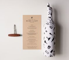 Branding, stationery and packaging for a wine bar and cafe based in Sydney Australia.