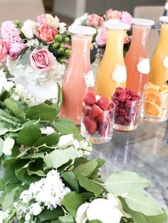 Garden Birthday Brunch Mimosa Bar from a Garden Birthday Brunch on Kara's Party Ideas Mimosa Party, Mimosa Brunch, Brunch Bar, Brunch Food, Brunch Recipes, Cocktail Parties, Sunday Brunch, Party Drinks, Party Party