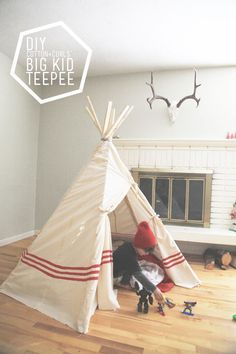 DIY big kid teepee (a $22 project!) for 7th day of XMAS tutorials
