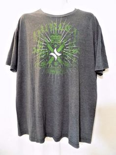 #GraphicTee #Hurley dark charcoal #gray #shirt t-shirt with crewneck crew neck neckline, green and white screen/graphic #logo print and a short sleeve style in #mens size large/L, excellent used condition https://www.ebay.com/itm/EUC-HURLEY-GRAY-SHIRT-T-SHIRT-SCREEN-GRAPHIC-LOGO-SHORT-SLEEVE-MENS-SIZE-LARGE-L-/142569412121?hash=item2131cc9619