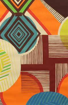 Alexander Henry - Collections - Africa - Mwamba Abstract - Tangerine/Chocolate http://www.ahfabrics.com/collections/category/584-mwambaabstract