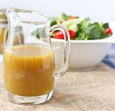 This Sweet and Tangy Honey Mustard Vinaigrette has become my go-to salad dressing. It comes together quickly with household staples and is a major crowd-pleaser! Salad Recipes Video, Salad Recipes For Dinner, Healthy Salad Recipes, Healthy Food List, Healthy Snacks, Healthy Eating, Vaping, Honey Mustard Vinaigrette, Balsalmic Dressing