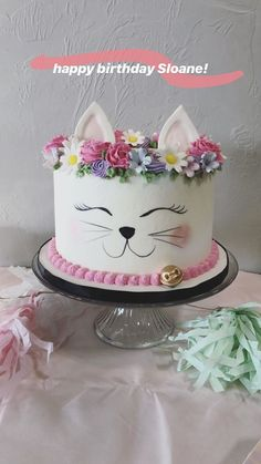 Gatto Gatto Gatto The Effective Pictures We Offer You About Cat birthday party ideas dessert tables A quality picture can tell you many things. You can find the most beautiful pictures that can be pre Pretty Cakes, Cute Cakes, Beautiful Cakes, Amazing Cakes, Cake Decorating Techniques, Cake Decorating Tips, Bird Cakes, Cupcake Cakes, Kitten Cake