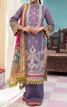 Lavender Lawn Suit   Buy Rang Rasiya Pakistani Dresses and Clothing online in USA, UK