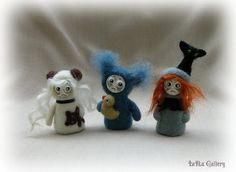Little ghost. Tiny doll. Needle felted doll. Felt miniature. Wool doll. Gothic doll. Phantom. Fantasy art. Small doll. Felt doll.
