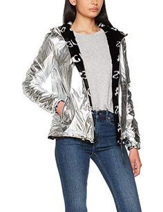 Guess Damen Regenjacke Franky Reversible - EUR - EUR - - mehr als Bewertungen Kimono Top, Bomber Jacket, Tops, Women, Fashion, Raincoat, Waterproof Rain Jacket, Fashion Ideas, Coats