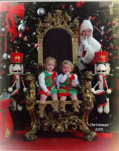 To the parents with kids that are afraid of Santa.  Don't torture them anymore.  Try this instead....very cute!