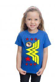 Camiseta Estrelas Da Wonder Woman - CamisetasOnova