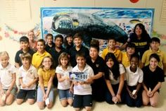 Stella the Whale, a life-size mural of an Atlantic right whale painted by the artist Wyland. The Wyland Foundation organized her 700-mile migration which has taken her to schools across the state in an effort to raise awareness of the importance of protecting the environment, setting goals, and being healthy. Florida Blue is proud sponsor of this program.]