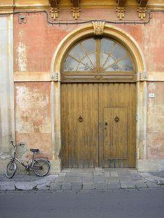 brown by Guady Door Knockers, Door Knobs, Portal, When One Door Closes, Yellow Doors, Brown Doors, Closed Doors, Natural Brown, Doorway