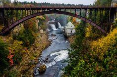 New York: Ausable Chasm Bridge  - HouseBeautiful.com