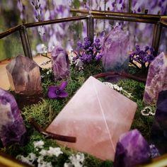 The newest Crystal Garden featuring Amethyst, Fluorite, Rose Quartz....and Buddha :) Crystaljypsyjewelry.etsy.com