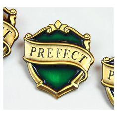 Items similar to New Slytherin Hogwarts Prefect Badge - Harry Potter... ❤ liked on Polyvore featuring other