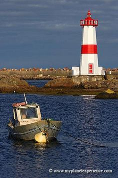 Pointe aux Canons Lighthouse, Saint Pierre and Miquelon, France | by My Planet Experience, via Flickr ~ Saint Pierre and Miquelon is a small French archipelago lost in the Atlantic Ocean between Newfoundland and Quebec in Canada.