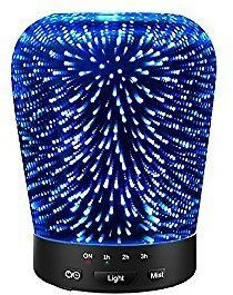 Aromatherapy Oil Diffuser, SZTROKIA 180ml Essential Oil Ultrasonic Cool Mist Humidifier with 3D 14 Color Changing Starburst LED Lights: Home & Kitchen
