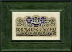 Here's another gorgeous piece from Erica Michael's. This one has a visually intriguing scallop border, Celtic wording, and some tricky tangling vines. Also available from Stitching Bits and Bobs: https://www.stitchingbitsandbobs.com/cgi-bin/Store/showimage.cgi?EricaMichaels0OMySoul1600