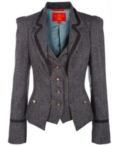 Vivienne Westwood Red Label Pinstripe blazer. Not gonna lie, totally searched online for this one...