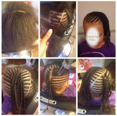 Cute braid hairstyle for kids ~TnC~ #kidsbraids #littlegirlhairstyles #littlenaturals #naturalhair #teamnatural