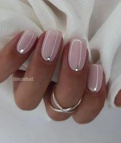 Neutral Nail Designs, Manicure Nail Designs, Classy Nail Designs, Manicure E Pedicure, Short Nail Designs, Neutral Nails, Gel Nail Art Designs, Manicure Ideas, Nail Ideas
