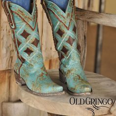 Here's another look at our Yippee Ki Yay Holiday collection. We love everything about the PARCHES Ask your fave retailer to carry this style! Cowgirl Chic, Cowgirl Style, Cowgirl Boots, Wedge Boots, Bootie Boots, Shoe Boots, Western Wear, Western Boots, Boot City