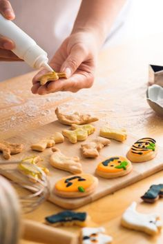 If baking is your calling, Halloween is one of the best occasions to put your baking skills to test. You can plan a Zoom Halloween baking party and make some crazy fun creations, like these Halloween cookies. Plan your recipe and get your ingredients in advance, then notify your invitees to do the same. You can bake the same thing, or each Zoom guest can bake their own treat. See more party ideas and share yours at CatchMyParty.com #catchmyparty #partyideas #halloween #halloweenparty…