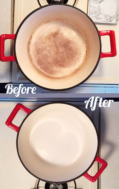 Rate this from 1 to Le Creuset How to Make Perfect Homemade Popcorn French Onion Chicken Goodbye to Yellow Armpit Stains! Le Creuset in CaribbeanIt's Deep Cleaning Tips, House Cleaning Tips, Diy Cleaning Products, Cleaning Hacks, Diy Hacks, Cleaning Recipes, Spring Cleaning, Dutch Oven Cooking, Dutch Oven Recipes