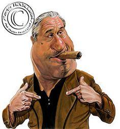 Caricature of Robert DeNiro  by Xavier Hourlier