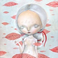 Dream of falling leaves - di @Dilyara Serazutdinova Bear via it.dawanda.com