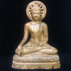 Excited to share this item from my #etsy shop: South Asia Cambodia Khmer Buddha Statue Large Caped God Sculpture Temple 523 mm