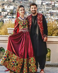 Pakistani Dress Design, Pakistani Dresses, Afghan Dresses, Designer Dresses, Sari, Couples, Countries, Clothes, Cable