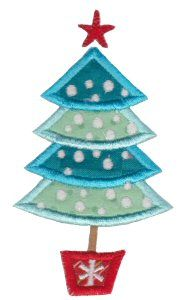 Embroidery | Free Machine Embroidery Designs | Bunnycup Embroidery | Retro Christmas Applique