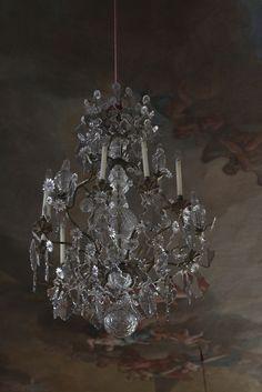 lustre pampilles patin du grenier d 39 alice shabby chic lustres pampilles chandelier. Black Bedroom Furniture Sets. Home Design Ideas