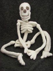 Seasonal Crochet Patterns - Realistic Bona Fide Skeleton - paid pattern @ Annie's
