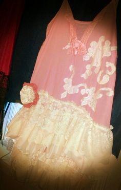 Vintage vera wang pink lace dress