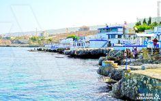 The seashore of #Enfeh, North #Lebanon شاطئ #أنفه، شمال #لبنان Photo by Francois el Bacha