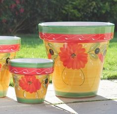 Sunshine Ceramica.  Sunshine Ceramica products are hand painted by artisans, making each piece truly unique. Our vibrant and colorful designs bring color to any garden, patio, pool and home.