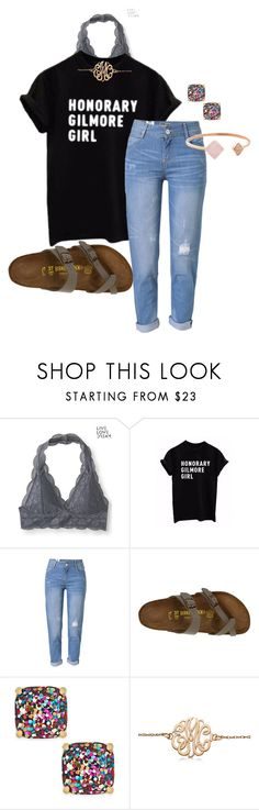 """Because who doesn't love Gilmore Girls? @flroasburn"" by auburnlady ❤ liked on Polyvore featuring Aéropostale, WithChic, Birkenstock, Kate Spade, Allurez and Michael Kors"