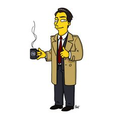 "Special Agent Dale Cooper. | ""Twin Peaks"" Characters Drawn As ""The Simpsons"""