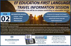 EF Education First Language Travel Company will be on campus conducting an information session February 2, 2015 in Williamsburg Room, Webb Center. They are currently accepting applications for the positions connected to their summer camp-style English language school. Positions are open to all majors, except for the ESL Teacher position.  #oducmc