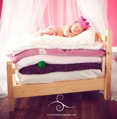 Princess and the Pea. Adorable photo idea for little girls!