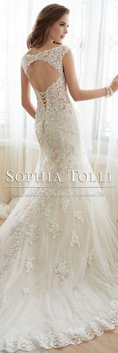 The Sophia Tolli Spring 2016 Wedding Dress Collection - Style No. Y11643 - Daria #laceweddingdress