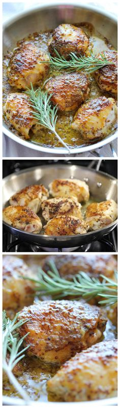 Baked Honey Mustard Chicken - The creamiest honey mustard chicken ever! I